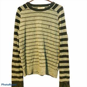Penguin by Munsing Wear Wool Stripes Sweater Large